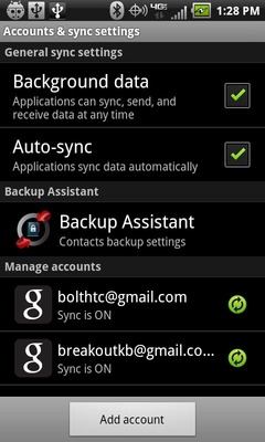 "Selecciona ""Backup Assistant"""