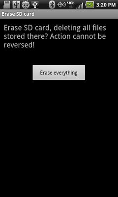 Selecciona Erase everything