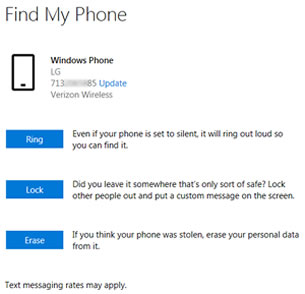 Find My Phone Options Website