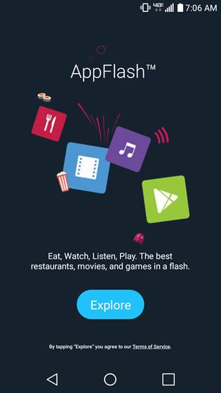 AppFlash Explore Screen