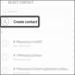 Tap Create Contact
