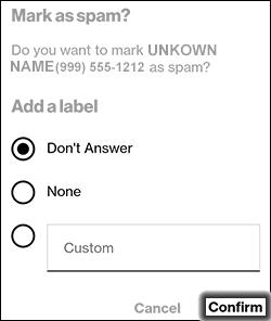 Tap Confirm