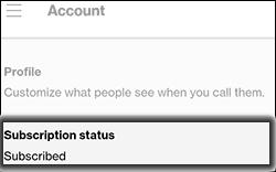 Tap Subscription Status