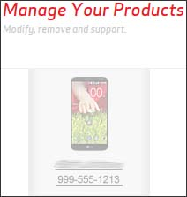 Click Manage Your Products