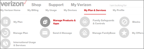 Click Manage Products & Apps