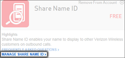 Click Manage Share Name ID