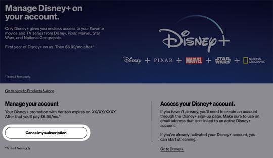 Cancel Disney Subscription My Verizon Website