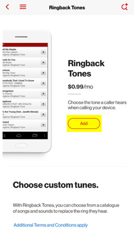 How can you change your Verizon ringback tone?