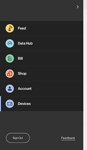 Devices Tab - My Verizon
