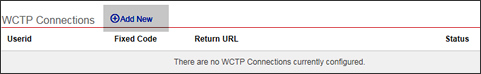 Add WCTP connection