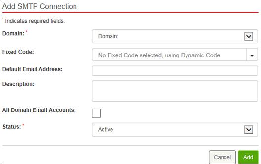 Enter SMTP info