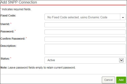 Enter SNPP info