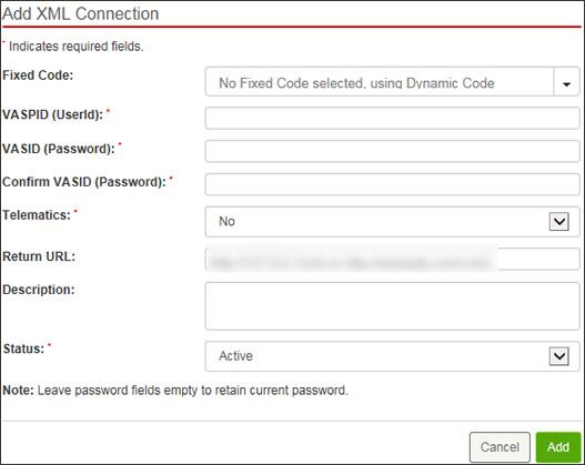 Enter XML info