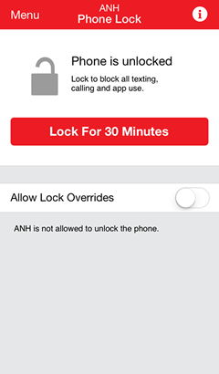 Phone Lock screen with Lock Phone for 30 minutes