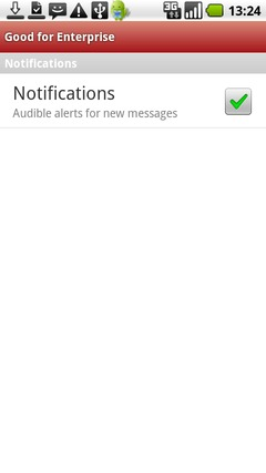 Touch Notifications to enable / disable audible alerts for new messages