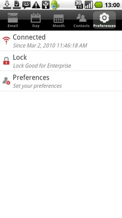 From the Preferences tab, touch Preferences