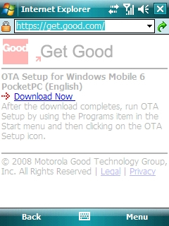 Get Good website with Download Now highlighted