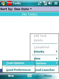 Tasks with Menu