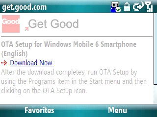 OTA Setup website with Download Now highlighted