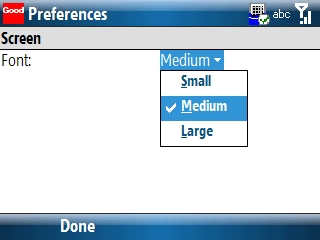 Screen preferences