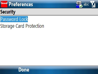 Security preferences 1