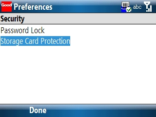 Security preferences 3