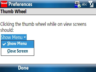 Thumb Wheel preferences