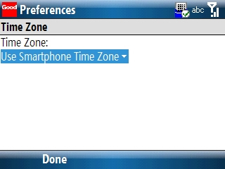 Time Zone preferences