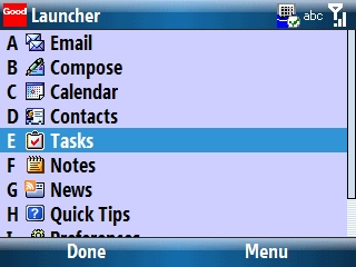Good Launcher with Tasks selected=