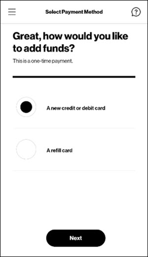 New credit or debit card