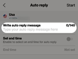Mensaje de respuesta automática