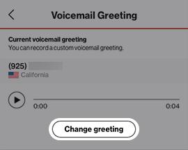 Tap Change greeting
