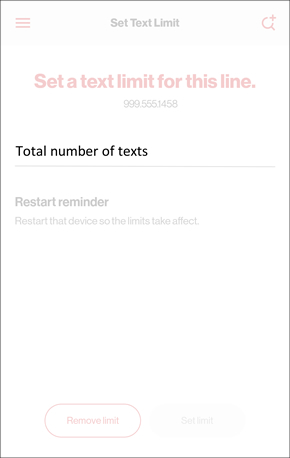 Set Text Limit with Total number of texts field