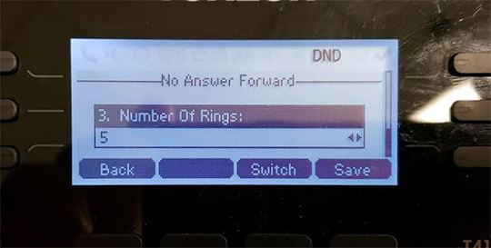 Adjust number of rings