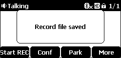 Recording saved