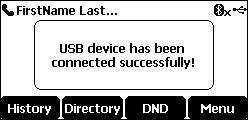 USB conectado