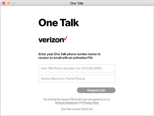 One Talk launch screen