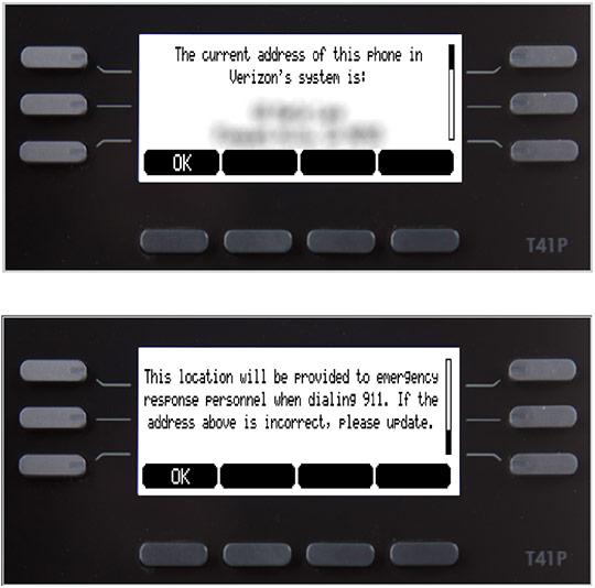 911 address screen