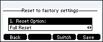 Select full reset