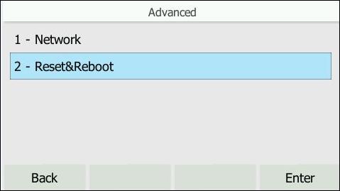 Reset & Reboot