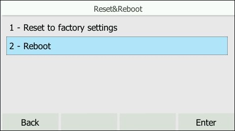 Factory settings