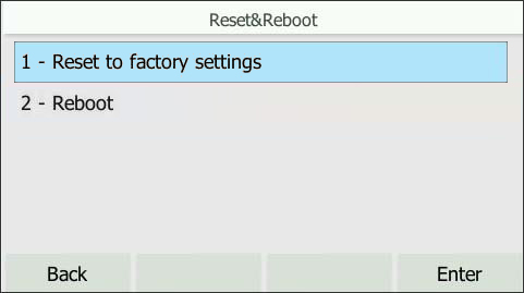 Select Reset to factory settings