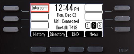 Press Intercom key