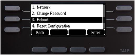 Select Reboot