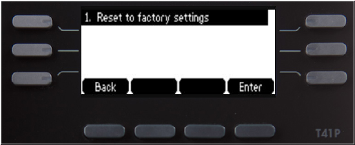 Reset to factory settings