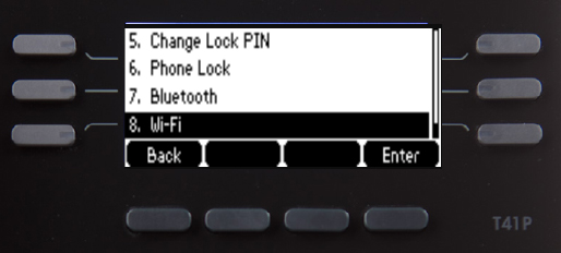 Basic Settings screen with Wi-Fi highlighted