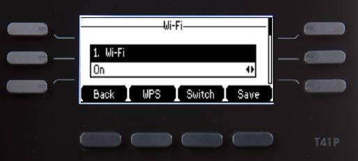 Wi-Fi settings screen