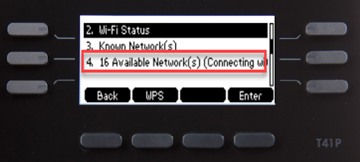 Select to view network list