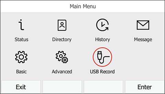 Select USB Record