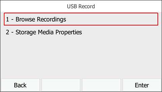 Select Browse Recordings